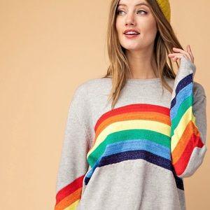 NWT Davi & Dani Rainbow sparkle sweater sz Small